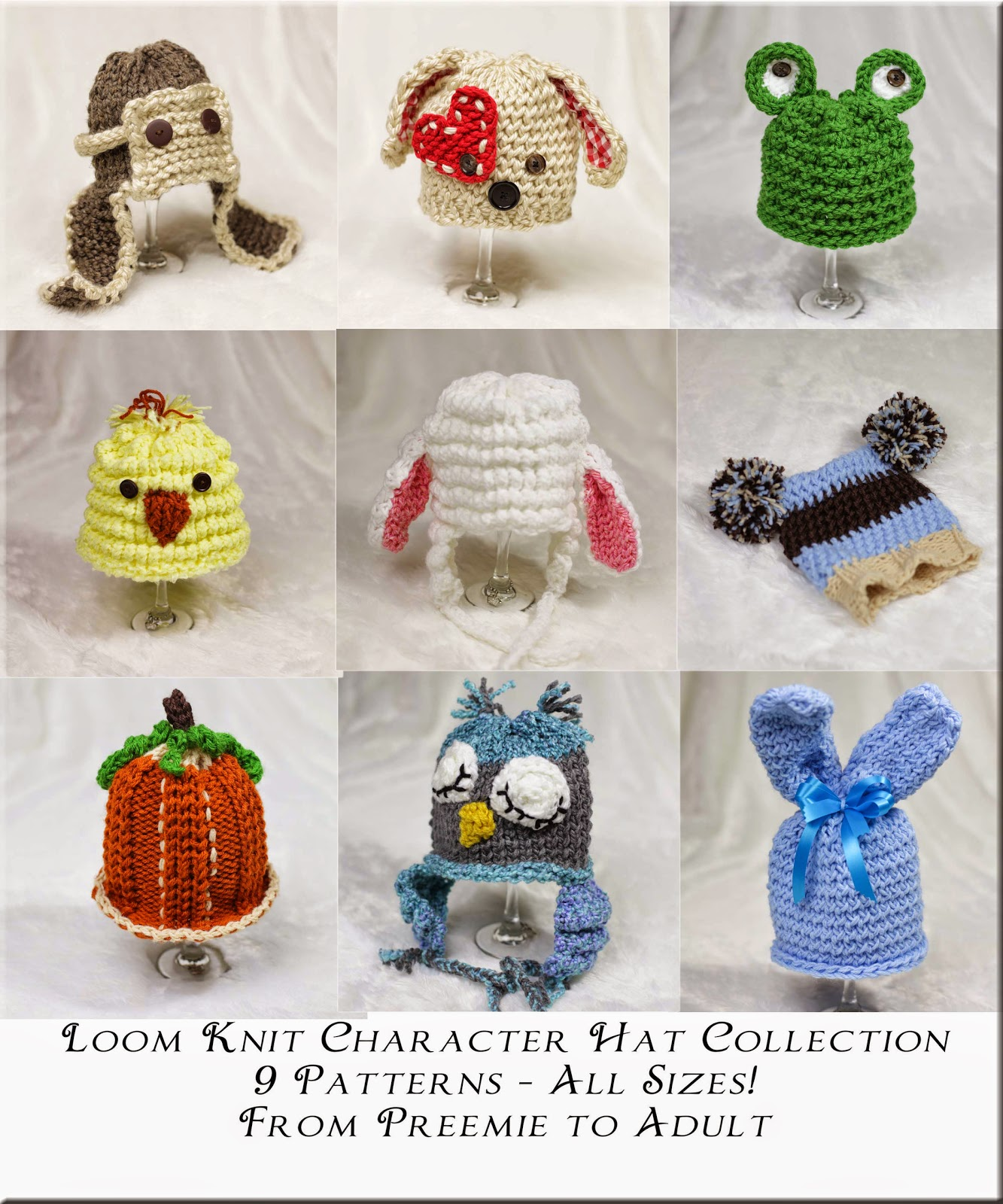 Loom Knitting by This Moment is Good!: New Loom Knit Character Hat Collection...
