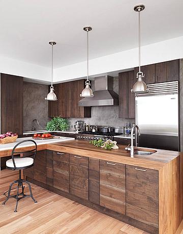 BlueBird Hill: modern walnut kitchen