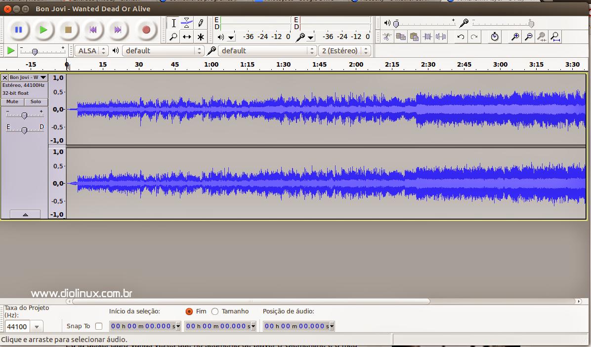 Audacity - Editor de Áudio no Ubuntu