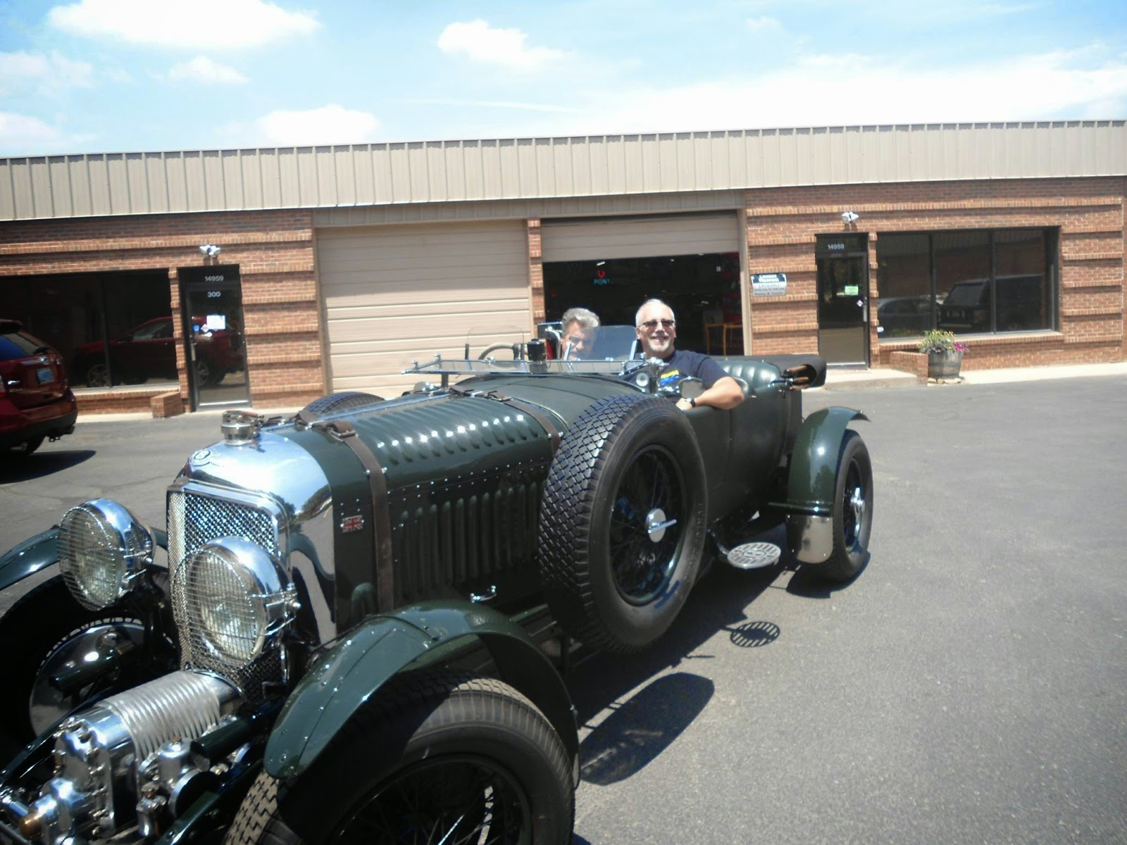 Clive cussler book collecting the bently blower wade and wayne taking the 1929 bentley blower for a test drive before the upcoming photo shoot for release of the new clive and dirk cussler dirk pitt voltagebd Image collections