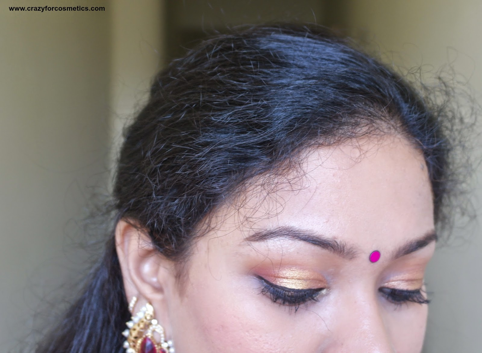 Gold eyeshadow eyemakeup ideas for weddings for Indian skin