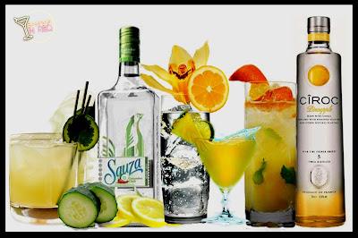 tequila y vodka con sabor
