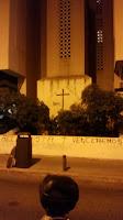 Pintadas fascistas en la Mezquita de Tetuán