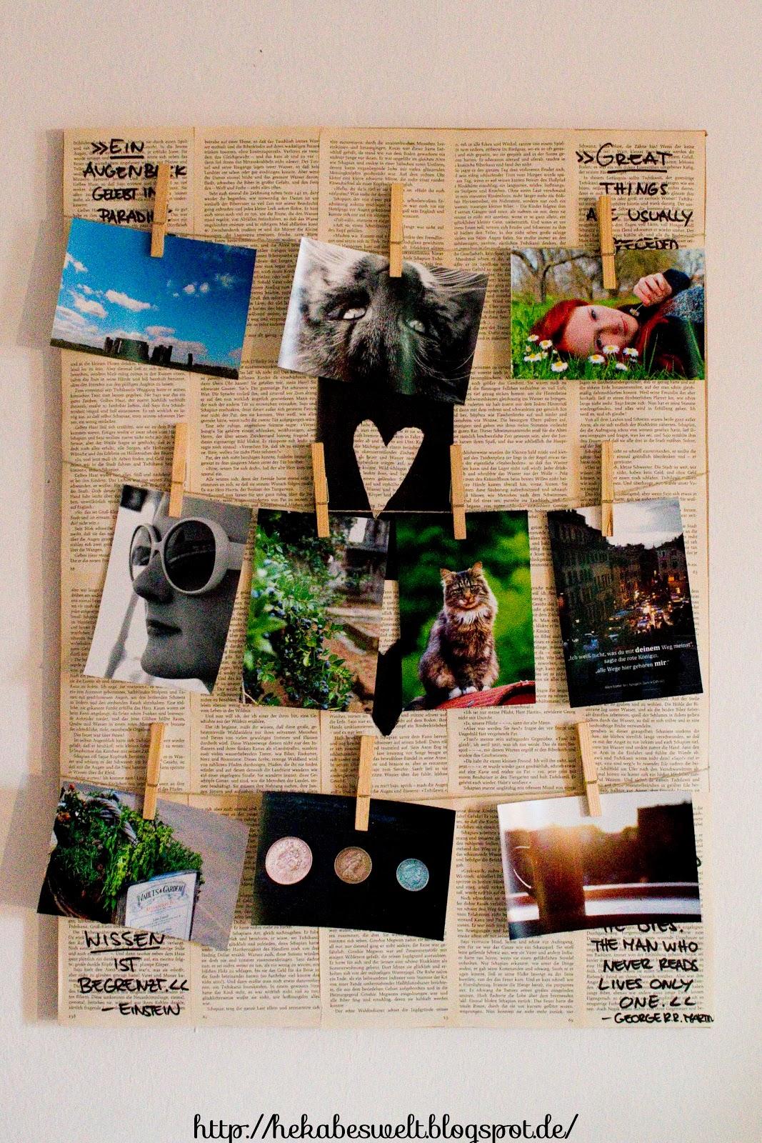 diy fotowand aus einer alten leinwand und einem alten buch hekabes welt. Black Bedroom Furniture Sets. Home Design Ideas