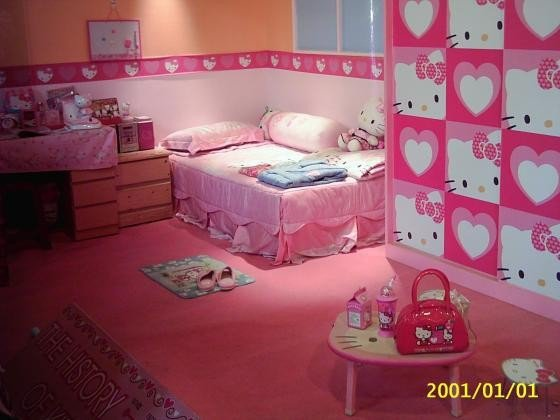 Decoracion Kitty Habitaciones ~ Tercera parte del especial KITTY BEDROOMS  More Hello Kitty Bedroom