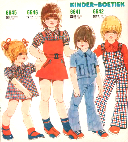 Mod and Mint: Vintage Childrens Fashion Illustrations 1974
