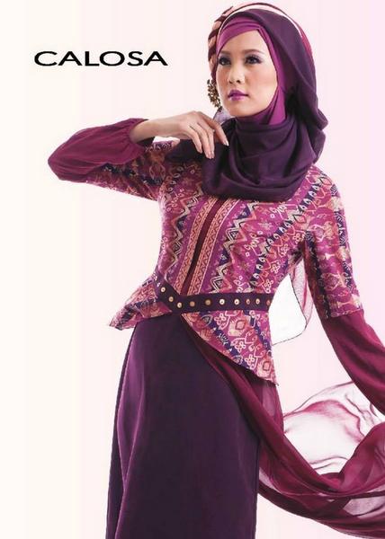 Foto Baju Muslim Brokat