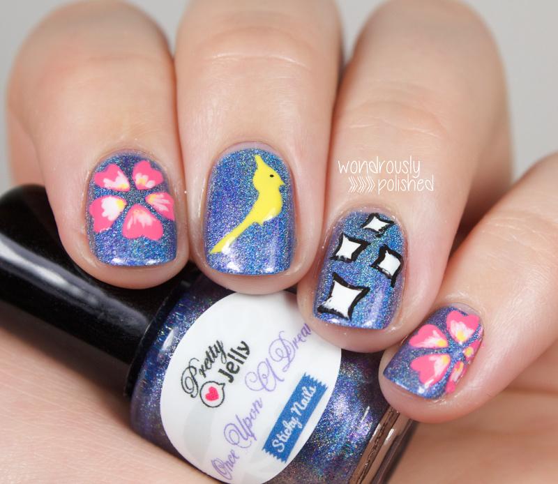 Sleeping Beauty Nail Art: Wondrously Polished: Sticky Nails & Pretty Jelly