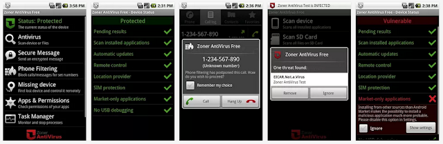 تطبيق مجانى مميز للحماية الشاملة من الفيروسات وفلترة المكالمات والرسائل Zoner AntiVirus Free-1-8-1-APK