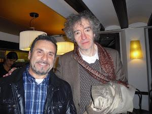 Con Alfonso Levi en el Ateneo de Barcelona.