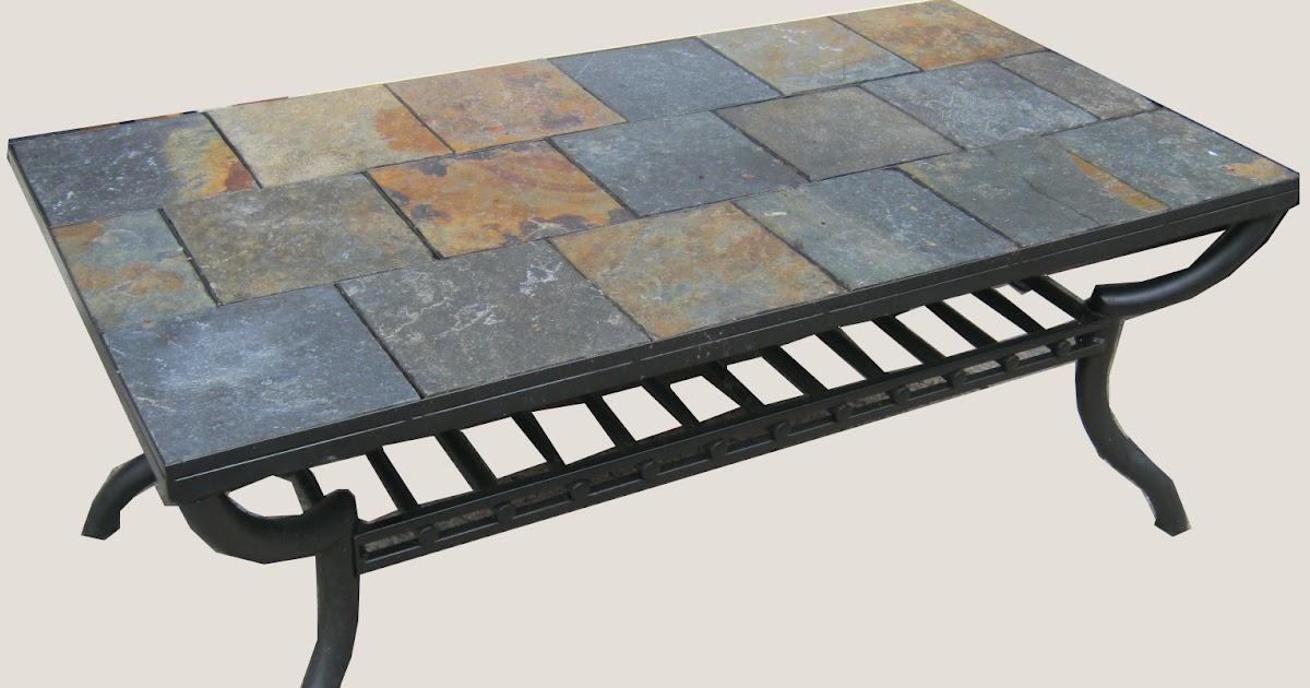 Uhuru Furniture Amp Collectibles Slate Tile Coffee Table SOLD