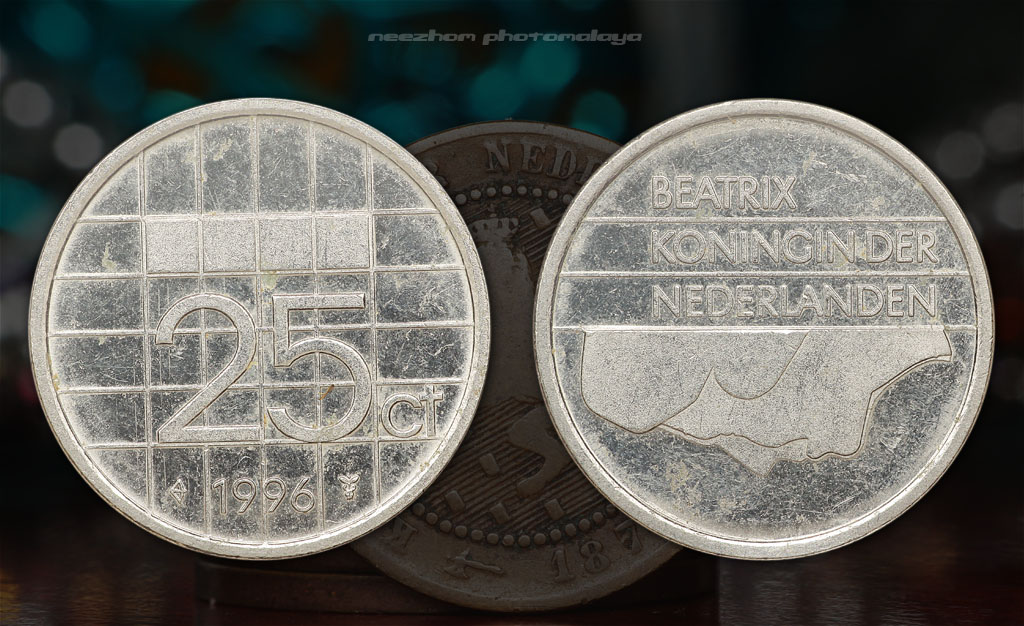 Netherlands 25 cents 1996 coin