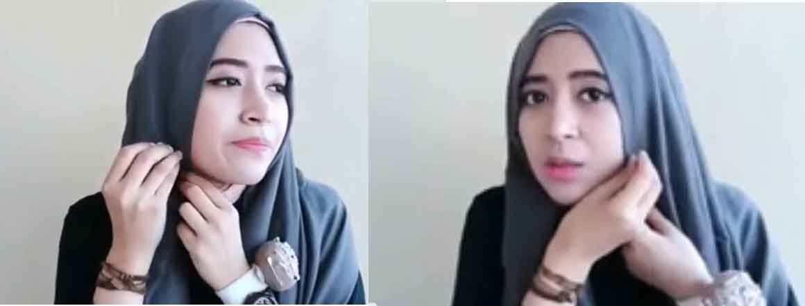 tutorial hijab scarf 2