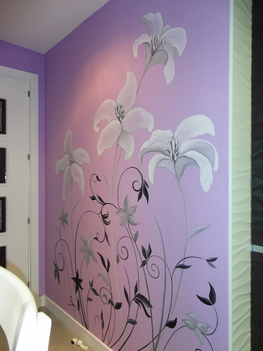 Decopared mural pintado en cocina for Como pintar un mural en una pared