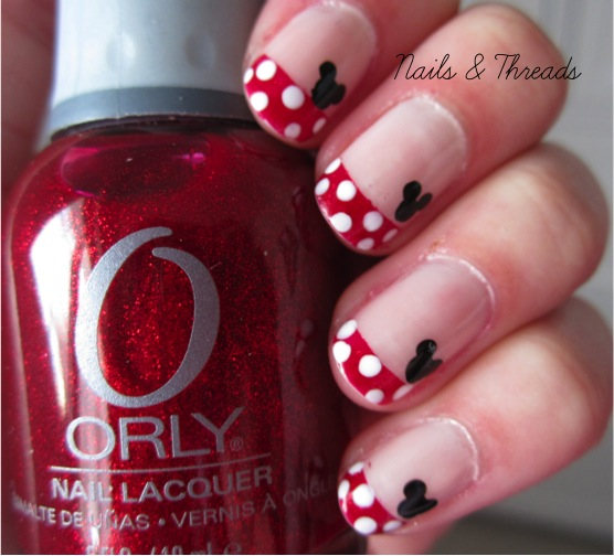 The Amusing Minnie mouse nail art design Image