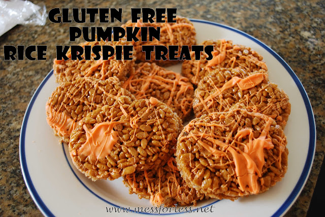 Gluten Free Pumpkin Rice Krispie Treats #glutenfree