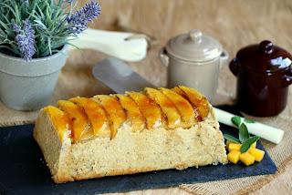 Terrina de ceps i mango caramel•litzat