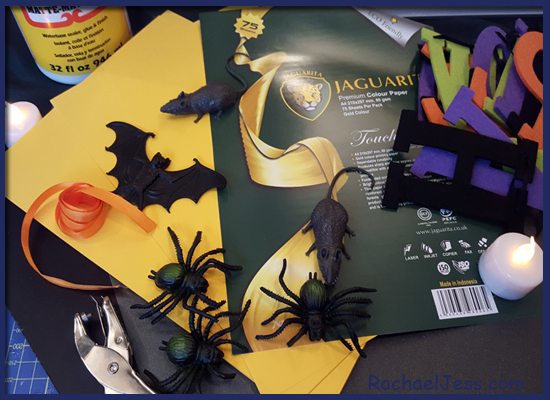 Materials used to create our Halloween Bunting