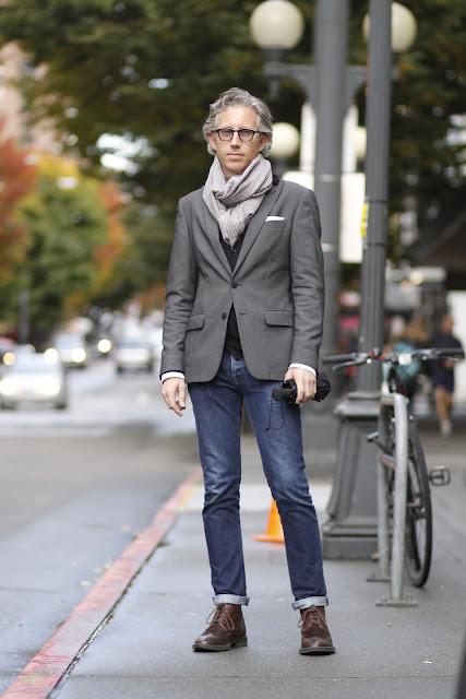 Brent Martin Nordstrom Stylist Seattle Street Style Men's Scarf