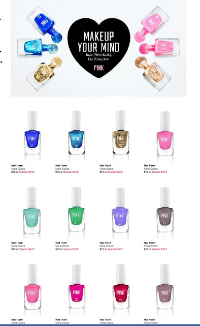 Victorias new ~ PINK nail and lip collection