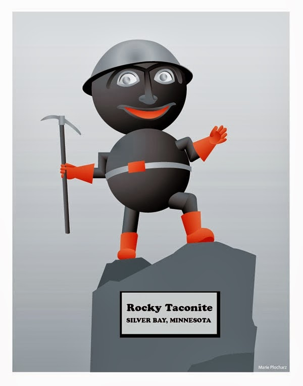 Rocky Taconite Silver Bay Minnesota - MN Roadside Attraction Travel Poster
