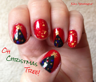 Nail Yourself: week 12: Inspired by Song (Oh Christmas Tree!)