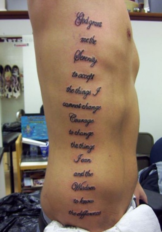 Has a sanskrit verse tattooed