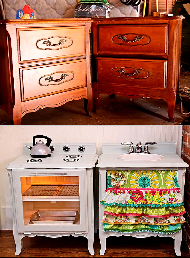 Sarah with an h before after for Kids kitchen furniture
