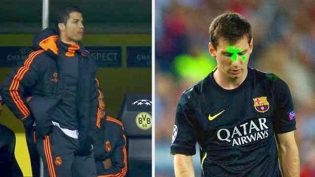 صحفي : ميسي اختفى في الملعب و رونالدو كان افضل منه في دكة الاحتياط
