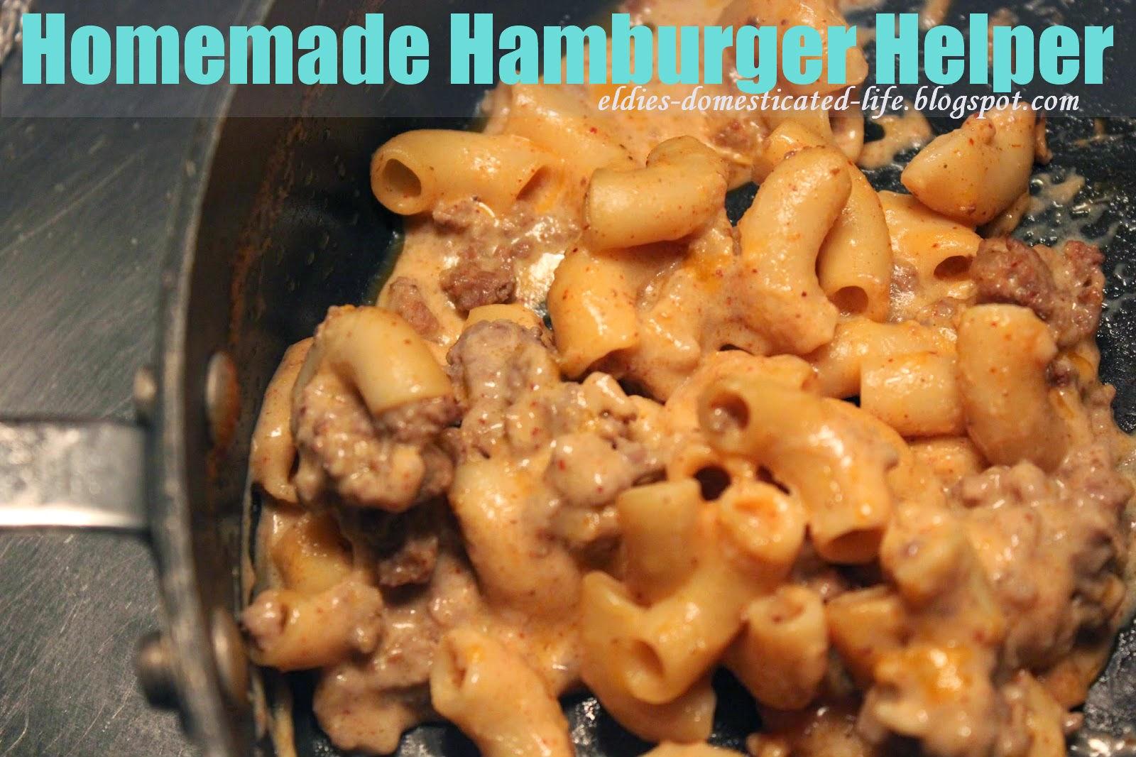 Homemade Hamburger Helper!