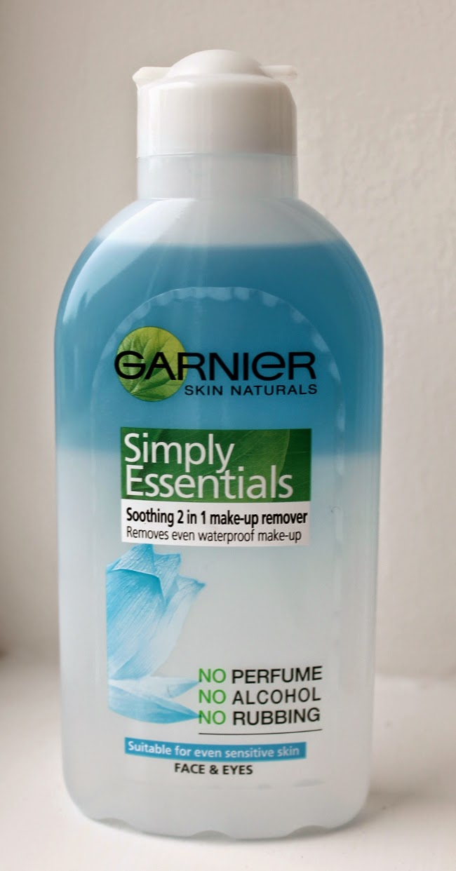 garnier simply essentials 2-in-1 makeup remover via lovebirds vintage