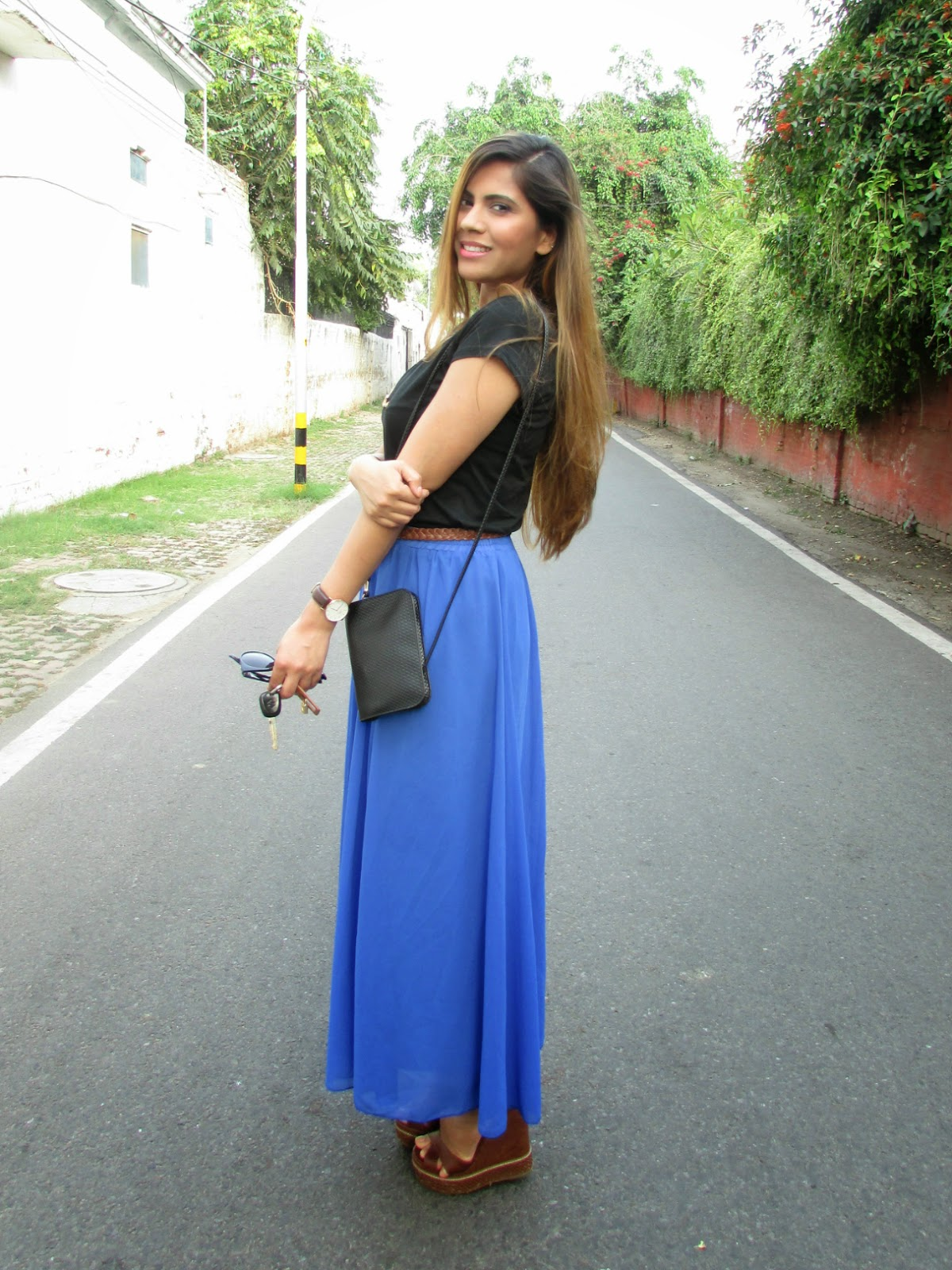 How to style maxi skirt, summer trends 2915, Indian fashion blogger, retro style, cheap maxi skirt online, popbasic, double string necklace, retro outfit, fashion, popbasic review, maxi skirt simple tshirt, maxi skirt of petites, how to look tall in maxi skirt, ombre haie, best hair color for summers, summer hair, maxi skirt for short people, blue maxi skirt, summer jewelry trends 2015, spring fashion trends 2015, beauty , fashion,beauty and fashion,beauty blog, fashion blog , indian beauty blog,indian fashion blog, beauty and fashion blog, indian beauty and fashion blog, indian bloggers, indian beauty bloggers, indian fashion bloggers,indian bloggers online, top 10 indian bloggers, top indian bloggers,top 10 fashion bloggers, indian bloggers on blogspot,home remedies, how to