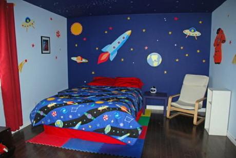 Dormitorios para ni os tema universo dormitorios con estilo for Decoracion de cuartos para ninos de 8 a 10 anos