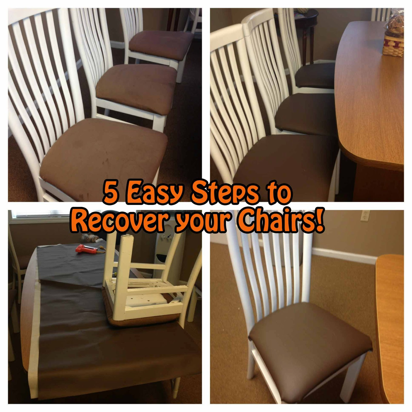Easy DIY Chair Recover~ 5 Easy Steps To Recover Your Chairs