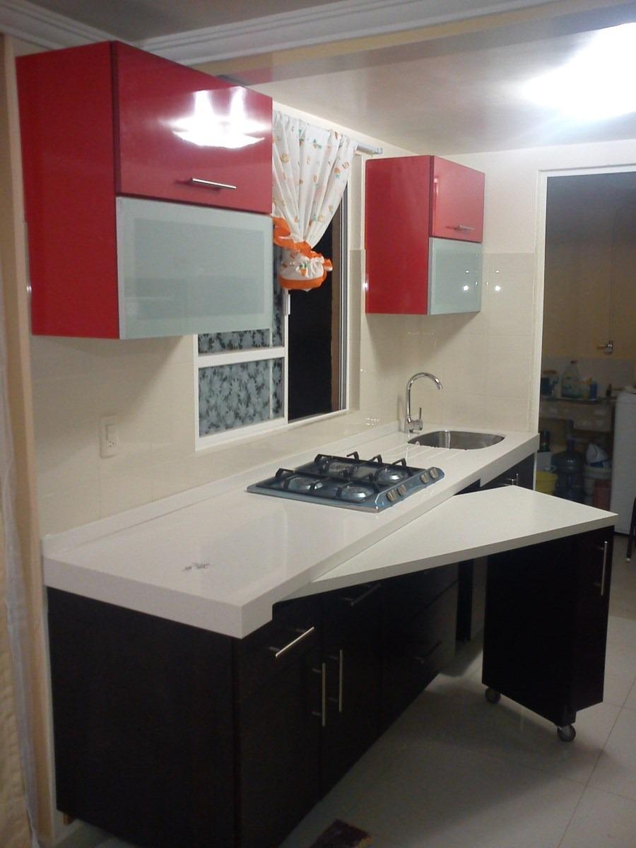 Cocinas armarios puertas parquet mesas extraibles for Muebles practicos para casas pequenas