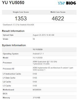 YU5050 Geekbench result
