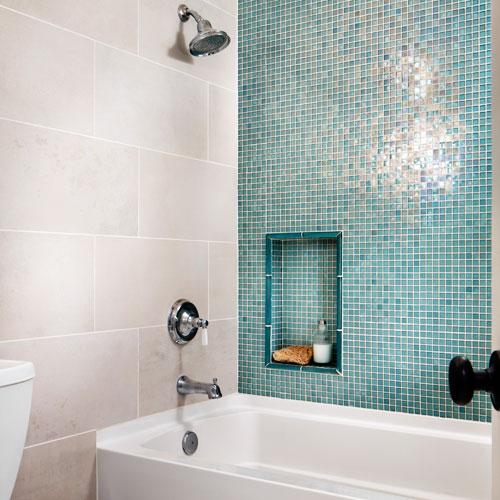 Banheiro decorado com pastilhas  Blog Casa Decorada  Ideias para decorar su -> Ambiente Banheiro Decorado