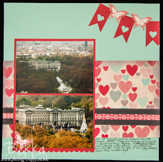 Changing Guards at Buckingham Palace Scrapbook Page by Stampin' Up! Demonstrator Bekka Prideaux - she runs a great Scrapbook Club where you get a monthly kit and lots of inspiration and tuition
