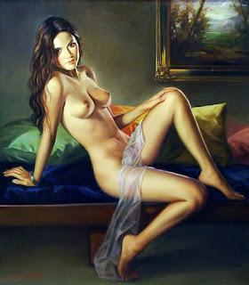 Mujeres Semidesnudas Pinturas Oleo