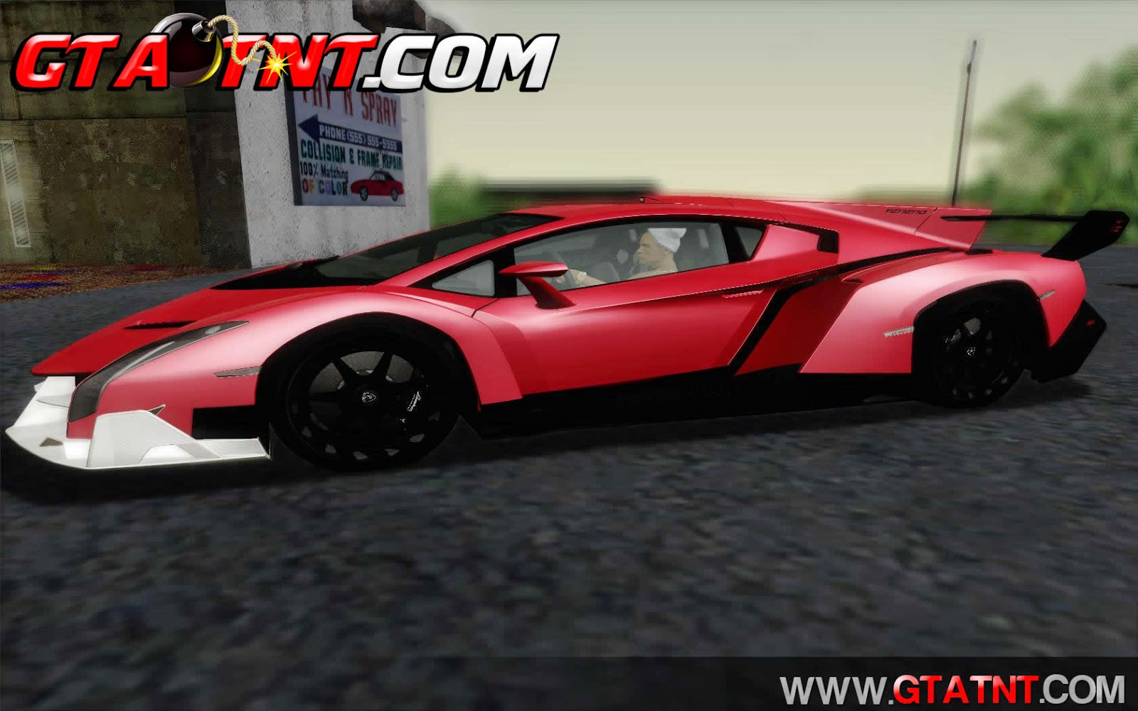 Lamborghini Veneno White Black 2015 para GTA San Andreas