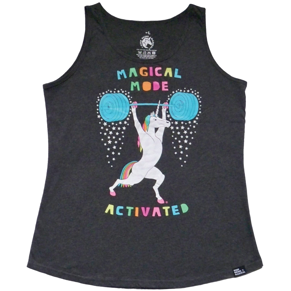 Magical Mode Activated Weightlifting Unicorn Tank Top