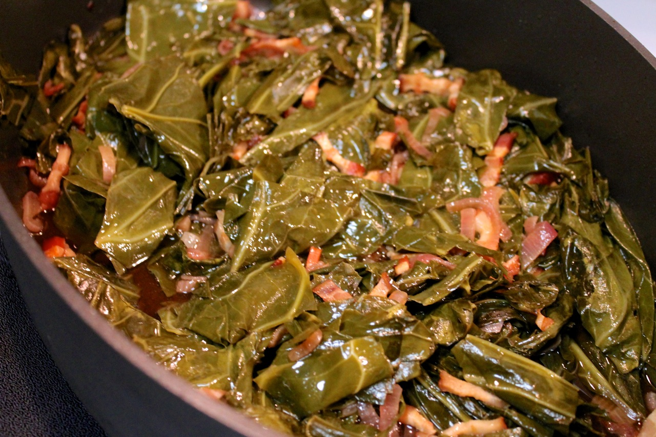 with kale bread stuffing with crawfish collard greens with bacon bread ...