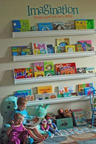 Family Style: Instant Gratification: Forward Facing Bookshelf