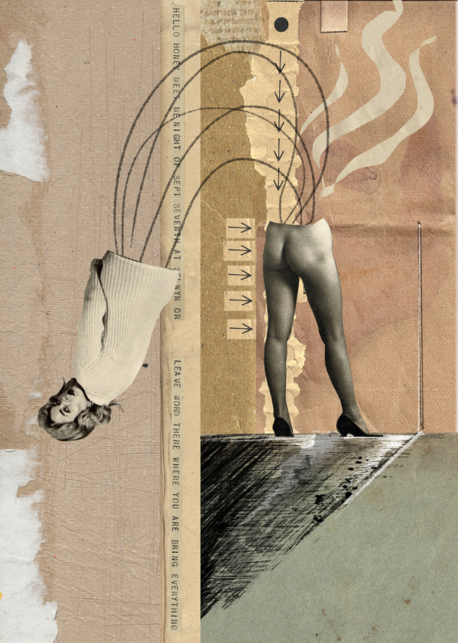 Franz Falckenhaus. Collage Art