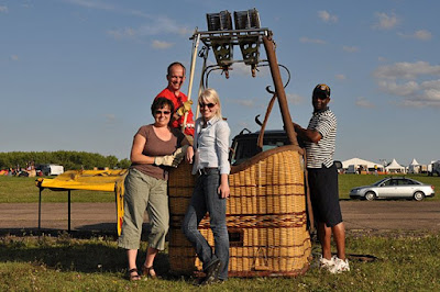 Hot air balloon team Grand Britannia