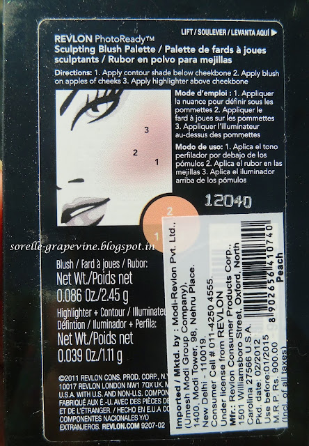 Revlon PhotoReady Sculpting Blush Palette Peach