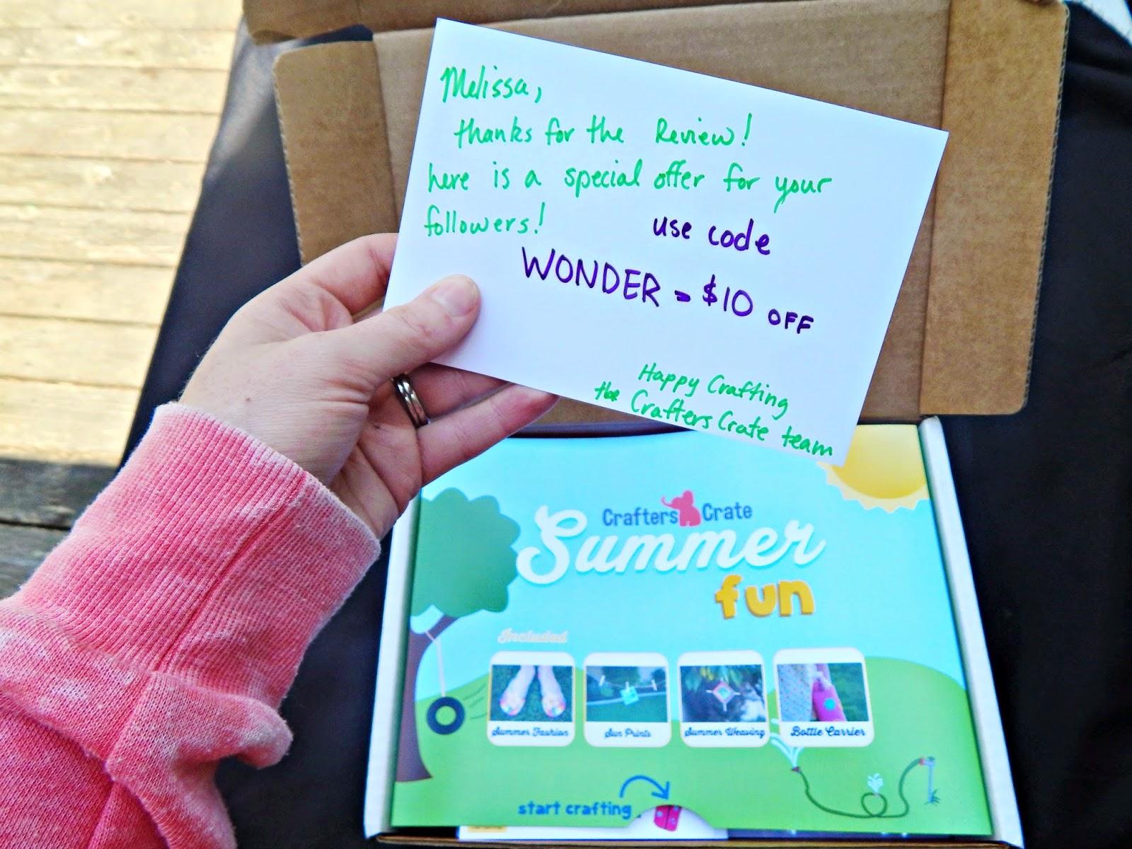 #crafterscrate summer craft ideas