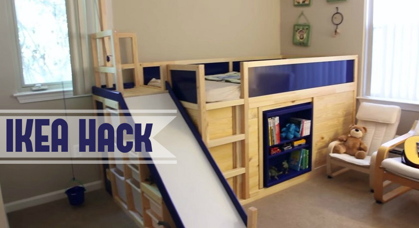 Kura Bed With Slide And Secret Room Ikea Hack