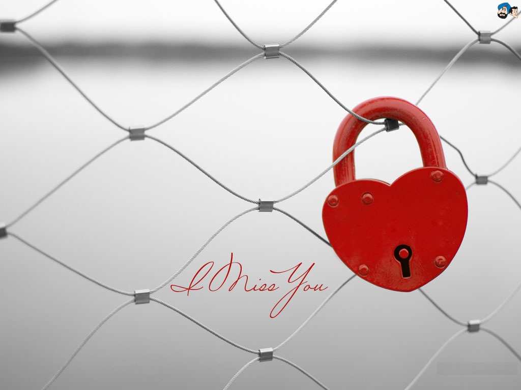 Heart lock I Miss You Images New