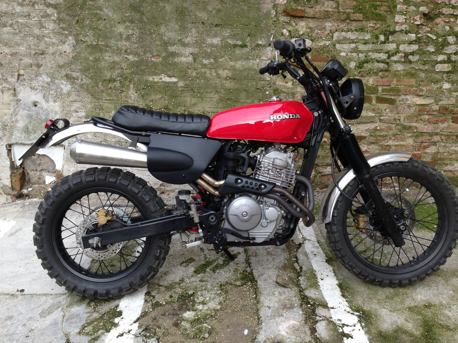 Honda Slr 650 Scrambler Modification Motorcycle Style